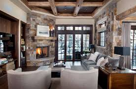 living room designs with fireplace and tv. Stone Finish. Slifer Designs Living Room With Fireplace And Tv