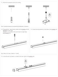 suspension installation of led linear
