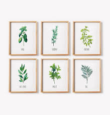 most interesting herb wall art new trends printable print set kitchen decor garden black framed vintage