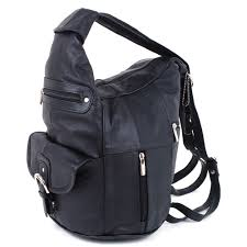 aod womens leather backpack purse sling shoulder bag handbag 3 in 1 convertible new com