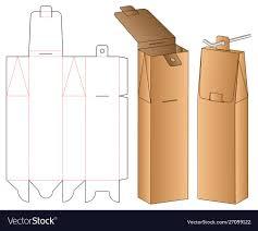 Box Design Template Illustrator Hanging Box Packaging Die Cut Template Design 3d
