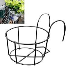 <b>Round Metal</b> Hanging Plants <b>Flower</b> Pot Holder Balcony Flowerpot ...