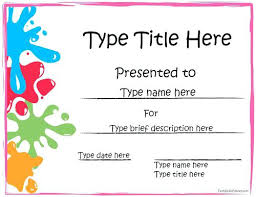 certificates of completion for kids printable certificate template sports certificate art award