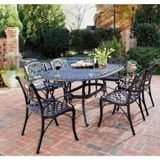 iron patio furniture dining sets. Modren Furniture Home Styles Biscayne Black 7Piece Patio Dining Set And Iron Furniture Sets M