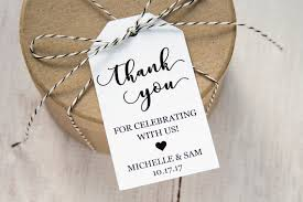thank you tags for wedding favors interior wedding favor tags thank you for celebrating with us