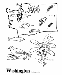 Small Picture Washington State outline Coloring Page CC Cycle 3 Week 10