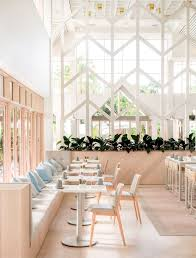 modern restaurant lighting. we extended the palette to include coastal whites and sandy neutrals authentic materials custom carpetthe palettemodern restaurant modern lighting