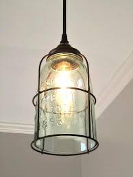 farmhouse pendant lighting. Rustic Cage Half Gallon Mason Jar Pendant Light · Farmhouse LightingKitchen Lighting