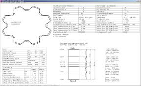 Spline Dimensions Chart Hexagon Info Letter No 133