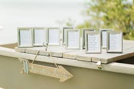 Picture Frame Seating Chart Silver Frame Seating Chart
