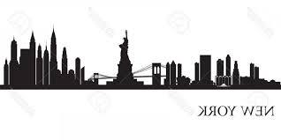 nyc vector new york city skyline silhouette background vector ilration scheme of nyc skyline wall
