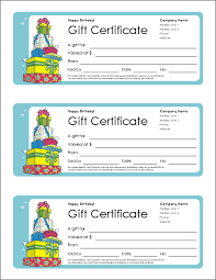 microsoft word birthday coupon template free gift certificate template and tracking log