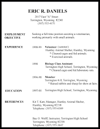 Gallery Of High School Student Resume Professional References For
