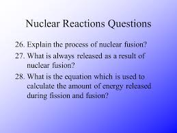 nuclear reaction questions