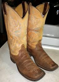 Light Brown Square Boots Womens 9 B Light Brown Justin Brl338 Bent Rail Wide Square Toe Western Boots
