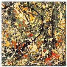 modern art jackson pollock inspired modern abstract oil
