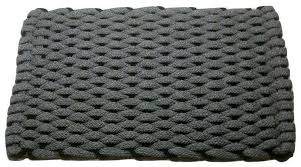 rockport rope mat gray insert black