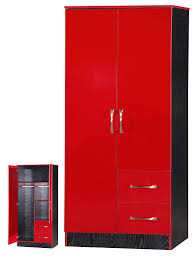 black and red furniture. marina 2 door double combination wardrobe ultra high gloss quality units red u0026 black ash amazoncouk kitchen home black and red furniture