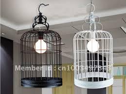 cage pendant lighting. Modern Iron Bird Cage Pendant Light Handmade Metal Base White Black Color Adorable Ideas Great Collection Lighting