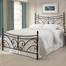 wrought iron bedroom furniture. bergen iron headboard bed matte black curving scroll design wrought bedroom furniture d