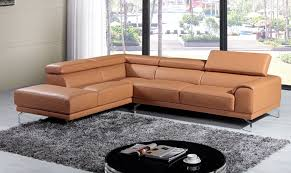 your bookmark s 3 410 00 divani casa wisteria modern camel leather sectional sofa