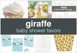 Giraffe Baby Shower Favors