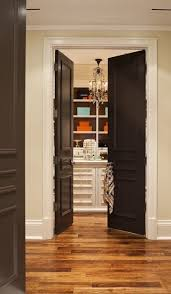 black doors cream walls white trim id like this with chocolate colored doors