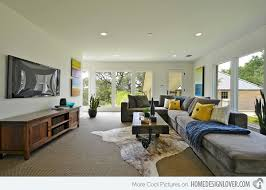 narrow living room contemporary space  austin serene contemporary space