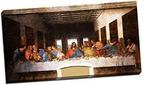 leonardo da vinci the last supper canvas print picture wall art large 30x16 inches on large last supper wall art with leonardo da vinci the last supper canvas print picture wall art