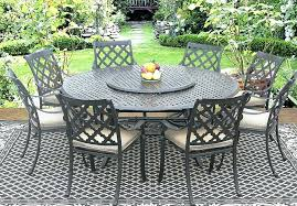 8 person round patio table patio cast aluminum patio tables real outdoor set 8 dining chairs