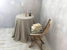 linen tablecloth round linen tablecloth extra large round tablecloth in natural color table