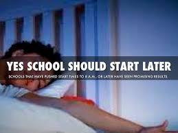 should school start later by steven chisholm 2