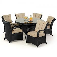 maze rattan texas 6 seat rattan dining set 1 35m round table