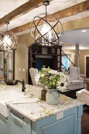 bright kitchen lighting fixtures. Pretty Light Fixtures Over Kitchen Island, Island Color, Wood Beams Bright Lighting
