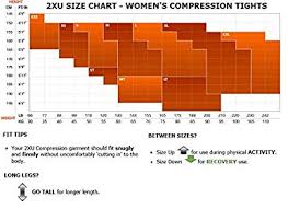 2xu Youth Compression Tights Size Chart 2xu Womens Hi Rise Compression Tights