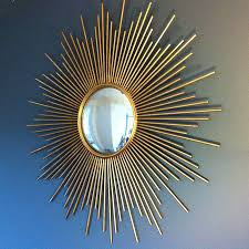 silver sunburst mirror wall decor gold stick decoration strong material high quality modern design small