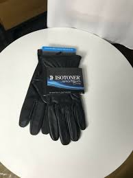 isotoner men s smartouch stretch leather gloves black size l large