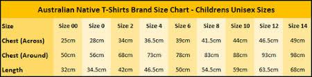 Sizing Charts Australian T Shirts Gifts