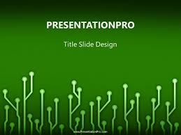 Powerpoint Circuit Theme Circuitboard Green Powerpoint Template Background In