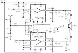 300w rms stereo power lifier circuit schematic