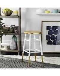 gold counter stools. Safavieh 24-inch Emery White/Gold Counter Stool (FOX3231D) Gold Stools O