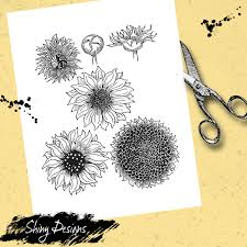 Print flowers pictures of rose, tulip, aster, cactus, sunflower and more. Sunflower Color And Collage Sheet Printable Coloring Page Instant Digital Download Art Journaling For Beginners Your Artful Life