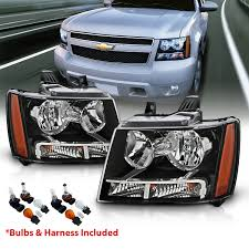 07 Tahoe Daytime Running Light Bulb Details About 2007 14 Replacement Black Headlight Pair For Chevrolet Avalanche Subarban Tahoe