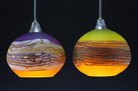 strata round pendants glass table lamps