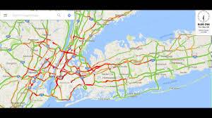 long island  nyc traffic google maps  min time lapse (sept