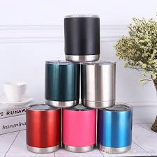 10oz vacuum insulated tumbler cup stainless steel lowball with lid cup wine beer glasses coffee travel mugs can cooler cups whole thermal coffee mugs