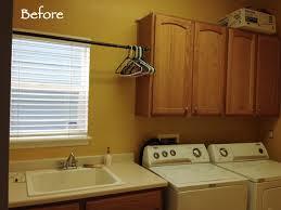 Easy Laundry Room Makeovers Laundry Room Makeover Diy Window Valance Marlowe Lane