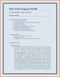 Sample Resume Construction Company Profile Format Fresh Business