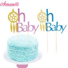 Dream Catcher Baby Shower Cake Amawill Glitter Oh Baby Cake Toppers Dream Catcher Cupcake Flag 90