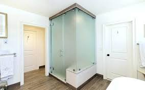 frosted shower doors glass bathroom with sticker canada